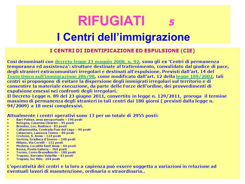 RIFUGIATI 5 I Centri dell'immigrazione