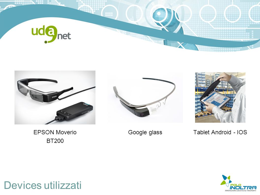 Devices utilizzati EPSON Moverio BT200 Google glass