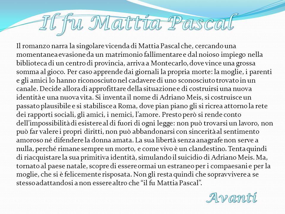 Avanti Il fu Mattia Pascal