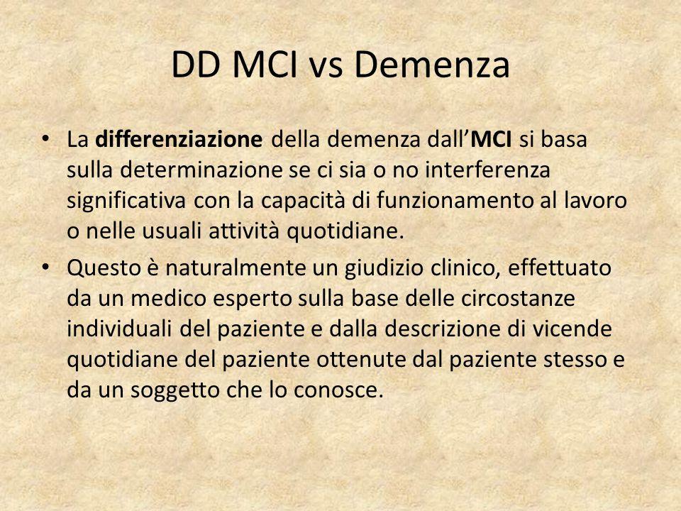 DD MCI vs Demenza