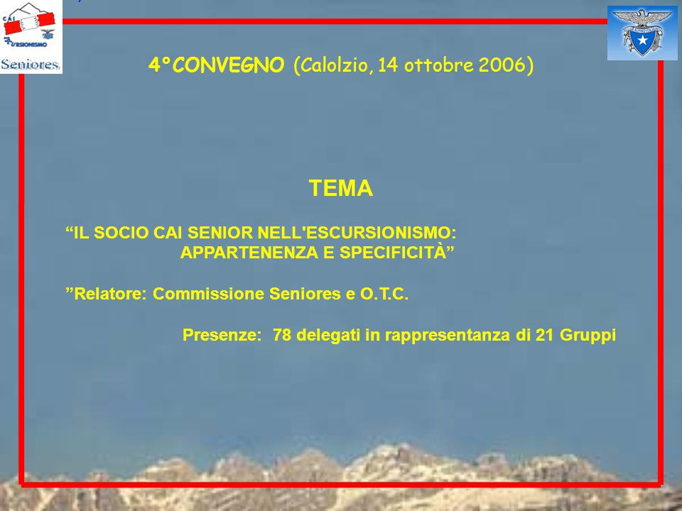 4°CONVEGNO (Calolzio, 14 ottobre 2006)