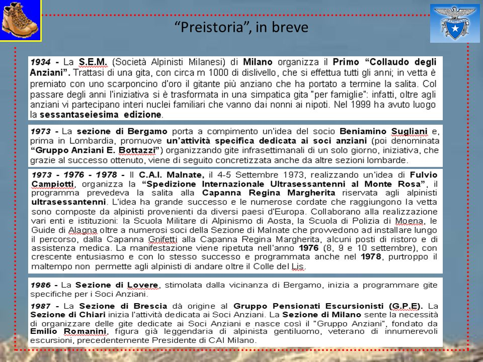 Preistoria , in breve