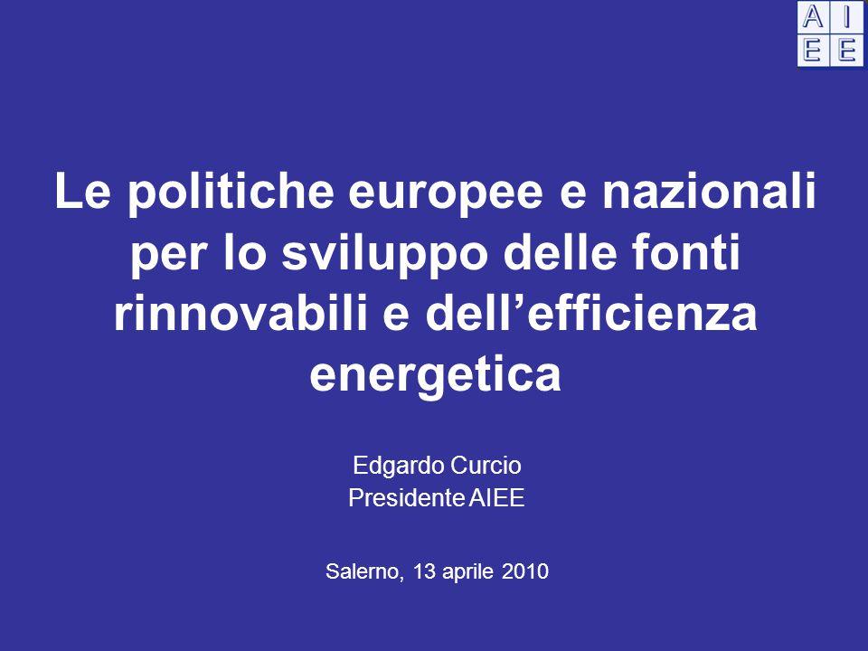 Le politiche europee e nazionali