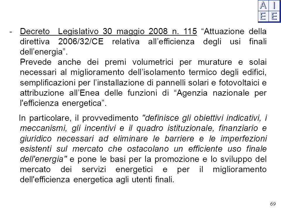 Decreto Legislativo 30 maggio 2008 n