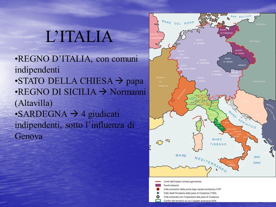 L'ITALIA REGNO D'ITALIA, con comuni indipendenti