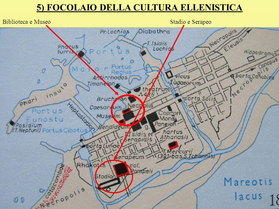 5) FOCOLAIO DELLA CULTURA ELLENISTICA