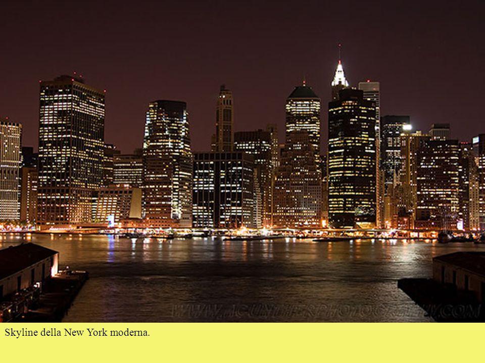 Skyline della New York moderna.