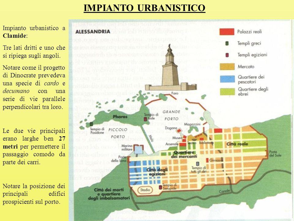 IMPIANTO URBANISTICO Impianto urbanistico a Clamide:
