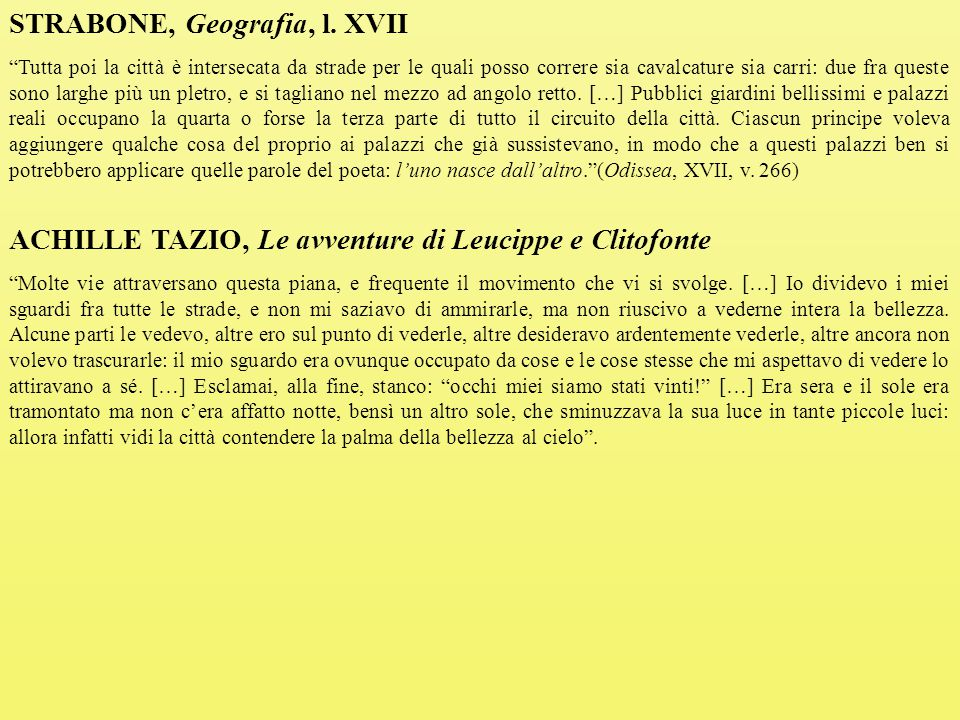 STRABONE, Geografia, l. XVII