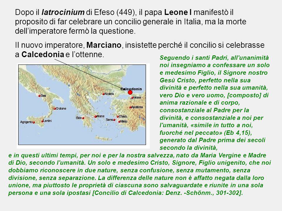 Dopo il latrocinium di Efeso (449), il papa Leone I manifestò il proposito di far celebrare un concilio generale in Italia, ma la morte dell'imperatore fermò la questione.