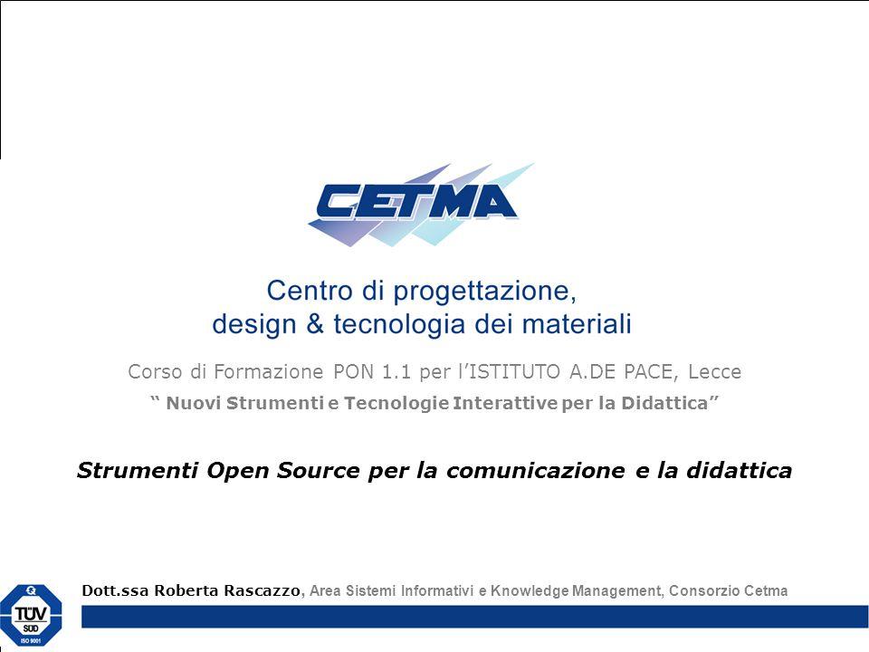 Strumenti Open Source per la comunicazione e la didattica
