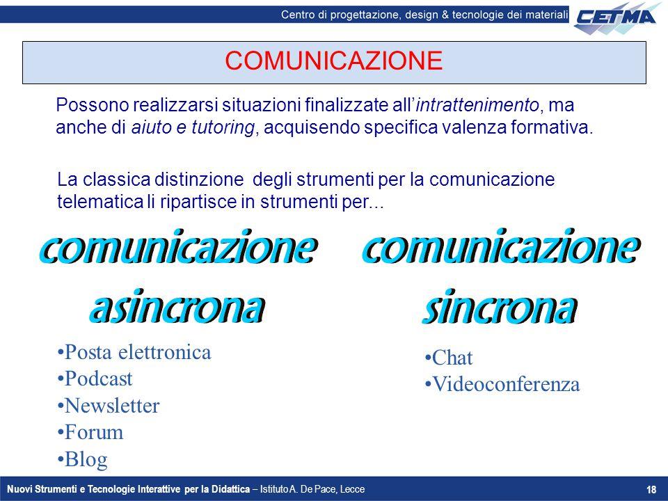 comunicazione asincrona comunicazione sincrona
