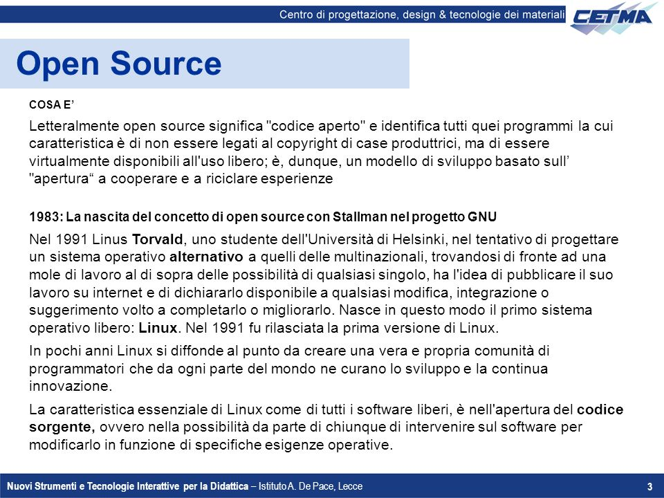 Open Source COSA E'
