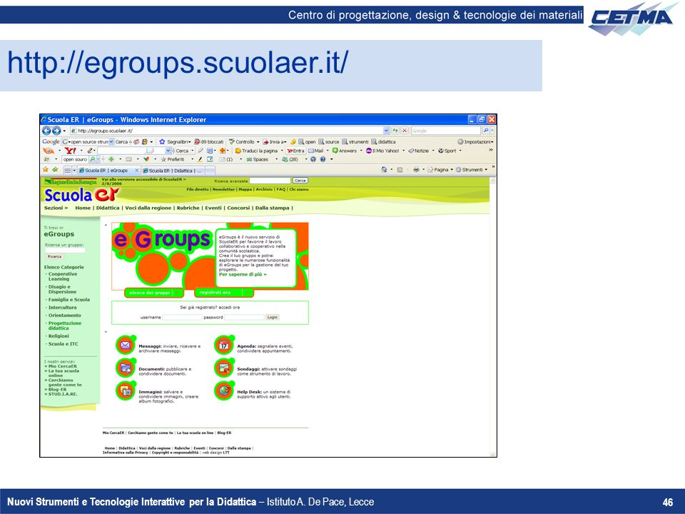 http://egroups.scuolaer.it/