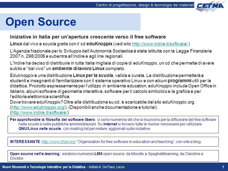 Open Source Iniziative in Italia per un apertura crescente verso il free software.