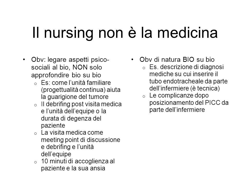 Il nursing non è la medicina