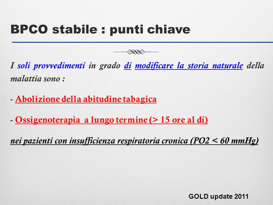 BPCO stabile : punti chiave