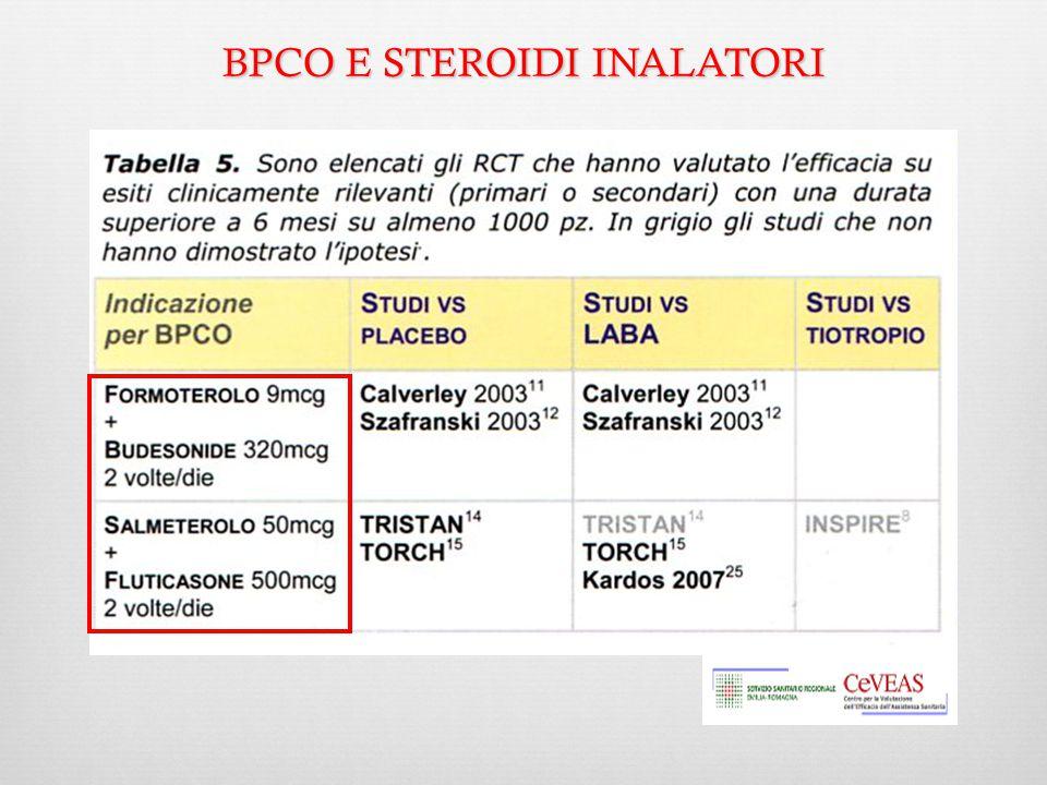 BPCO E STEROIDI INALATORI