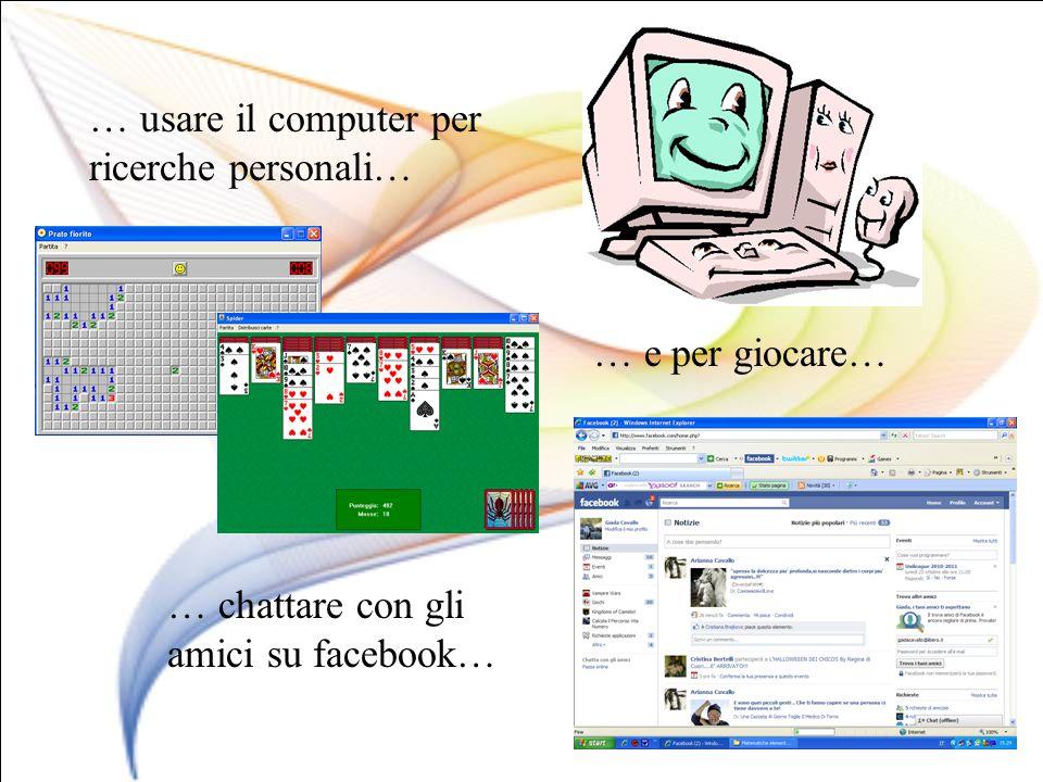 … usare il computer per ricerche personali…