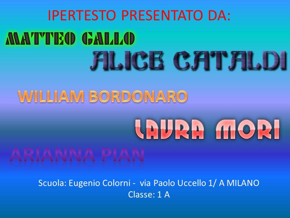 Scuola: Eugenio Colorni - via Paolo Uccello 1/ A MILANO Classe: 1 A