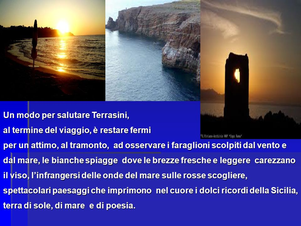 Un modo per salutare Terrasini,