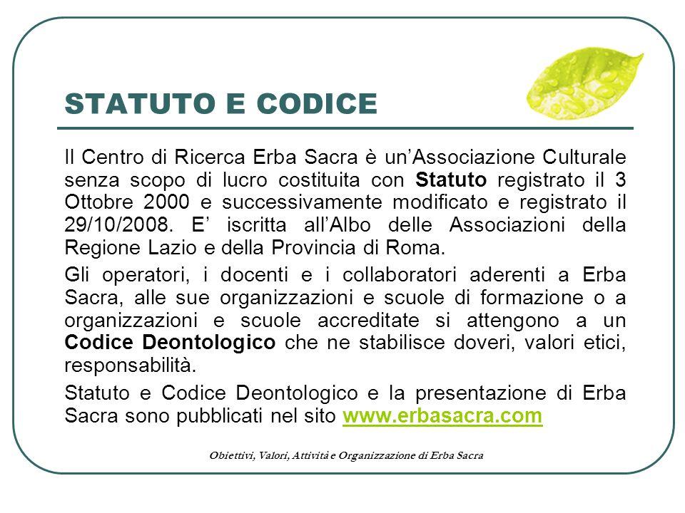 STATUTO E CODICE