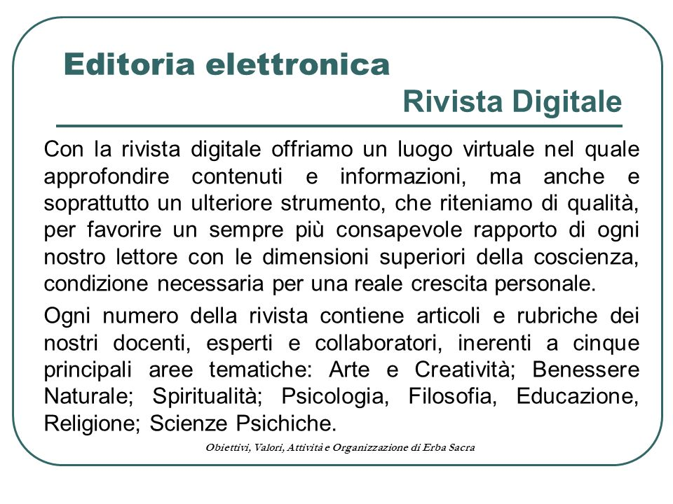 Editoria elettronica Rivista Digitale