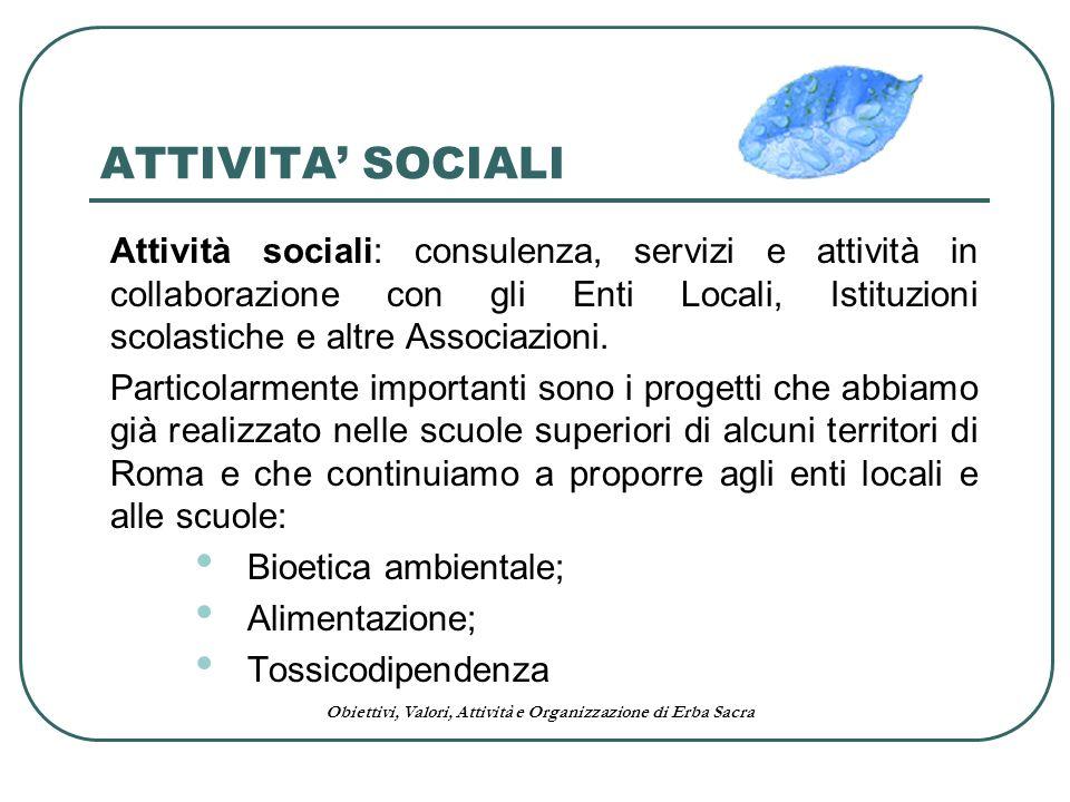 ATTIVITA' SOCIALI