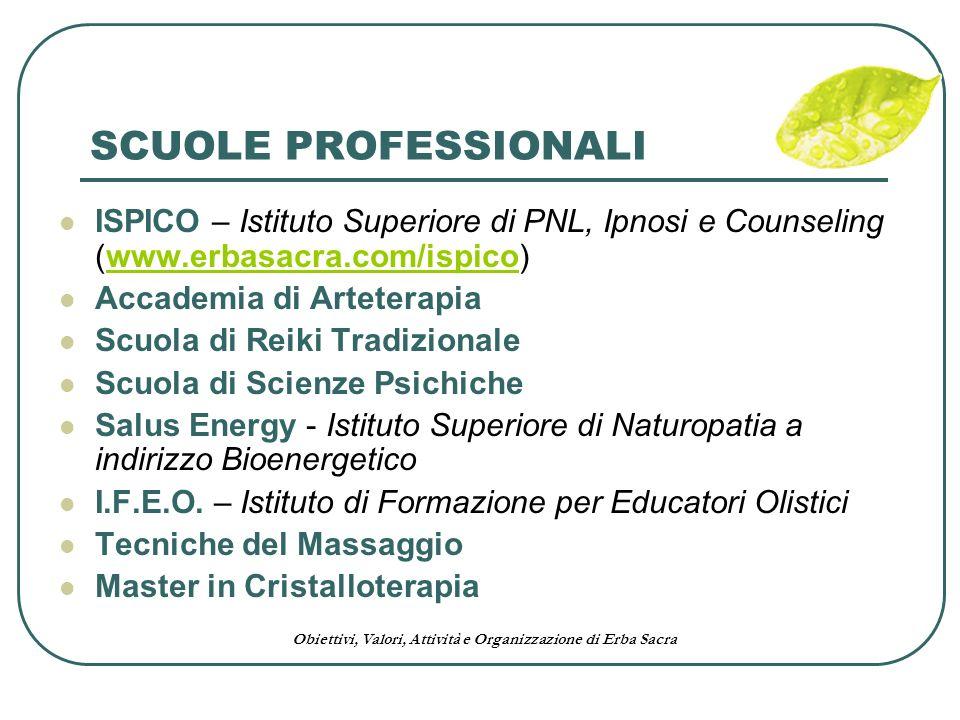 SCUOLE PROFESSIONALI ISPICO – Istituto Superiore di PNL, Ipnosi e Counseling (www.erbasacra.com/ispico)