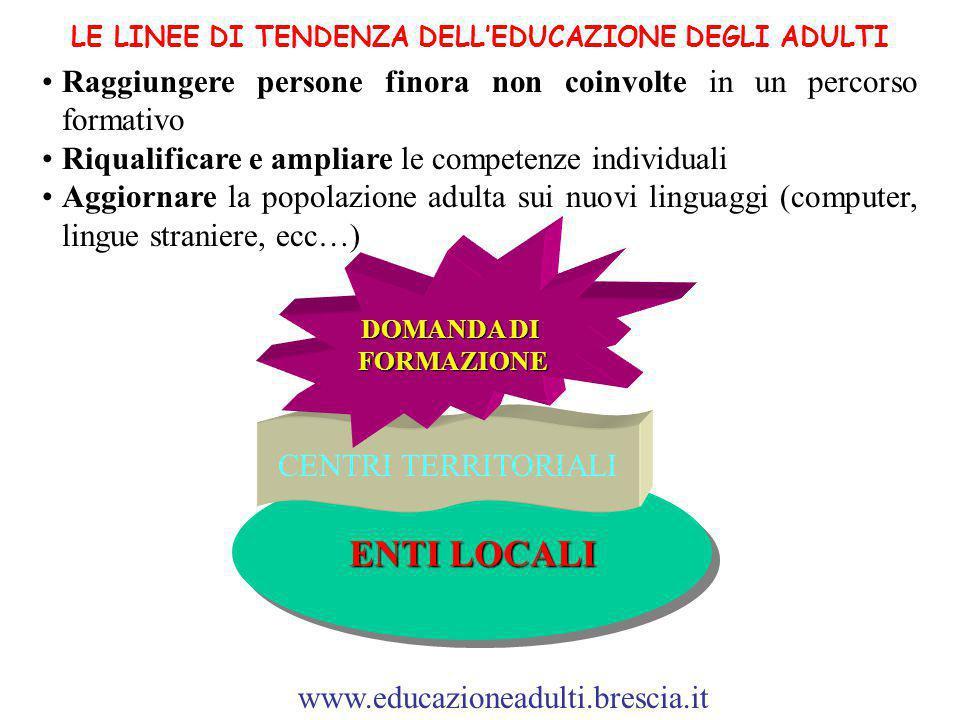 LE LINEE DI TENDENZA DELL'EDUCAZIONE DEGLI ADULTI