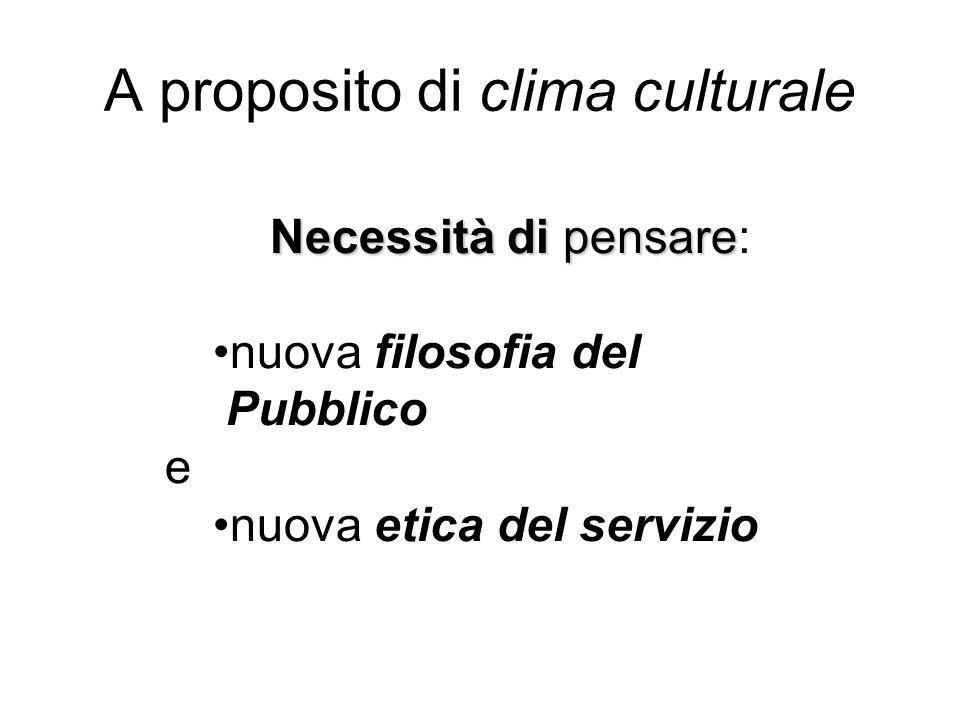 A proposito di clima culturale