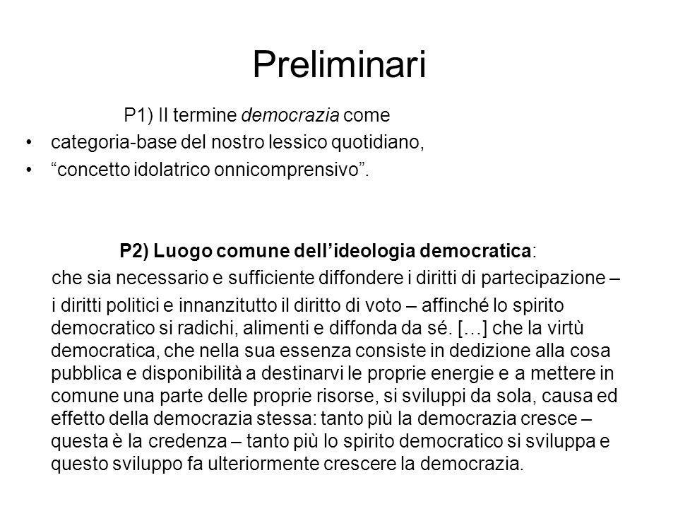 Preliminari P1) Il termine democrazia come