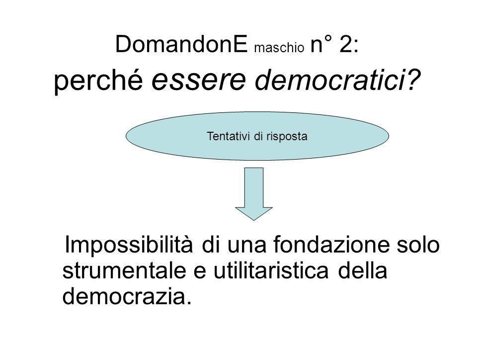 DomandonE maschio n° 2: perché essere democratici