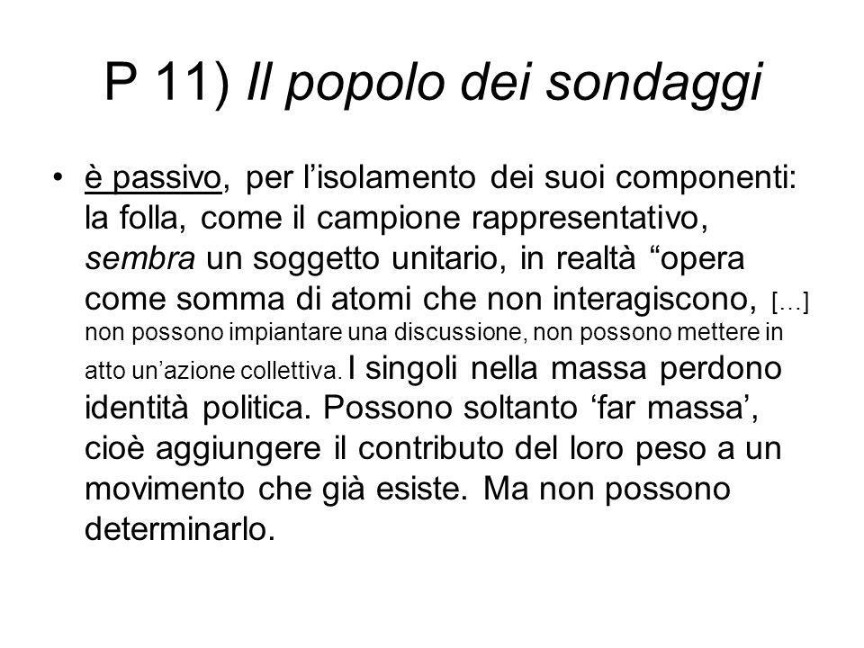P 11) Il popolo dei sondaggi
