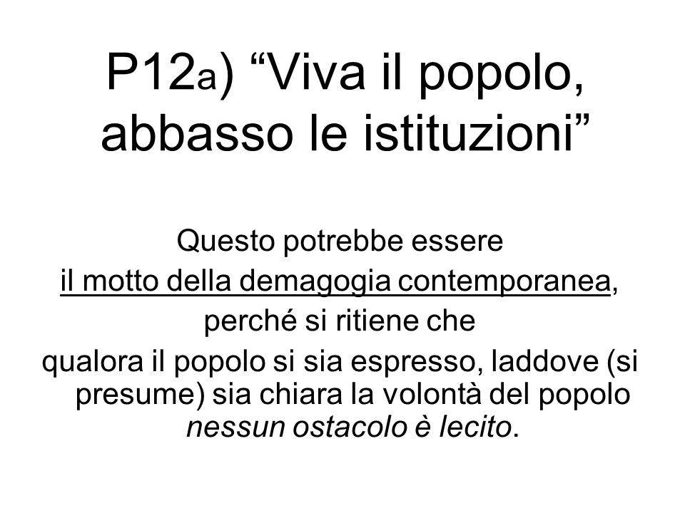P12a) Viva il popolo, abbasso le istituzioni