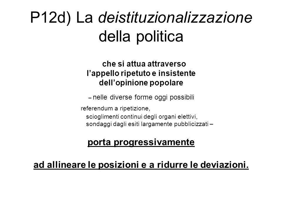 P12d) La deistituzionalizzazione della politica