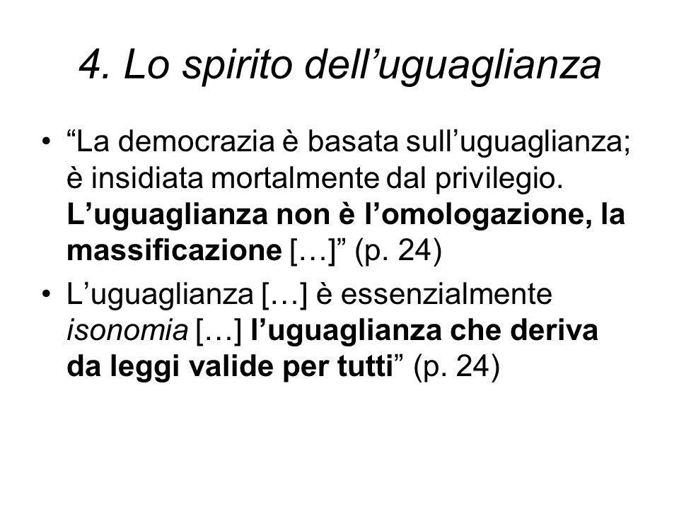 4. Lo spirito dell'uguaglianza
