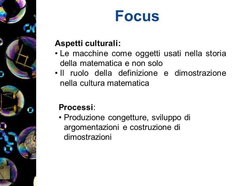 Focus Aspetti culturali: