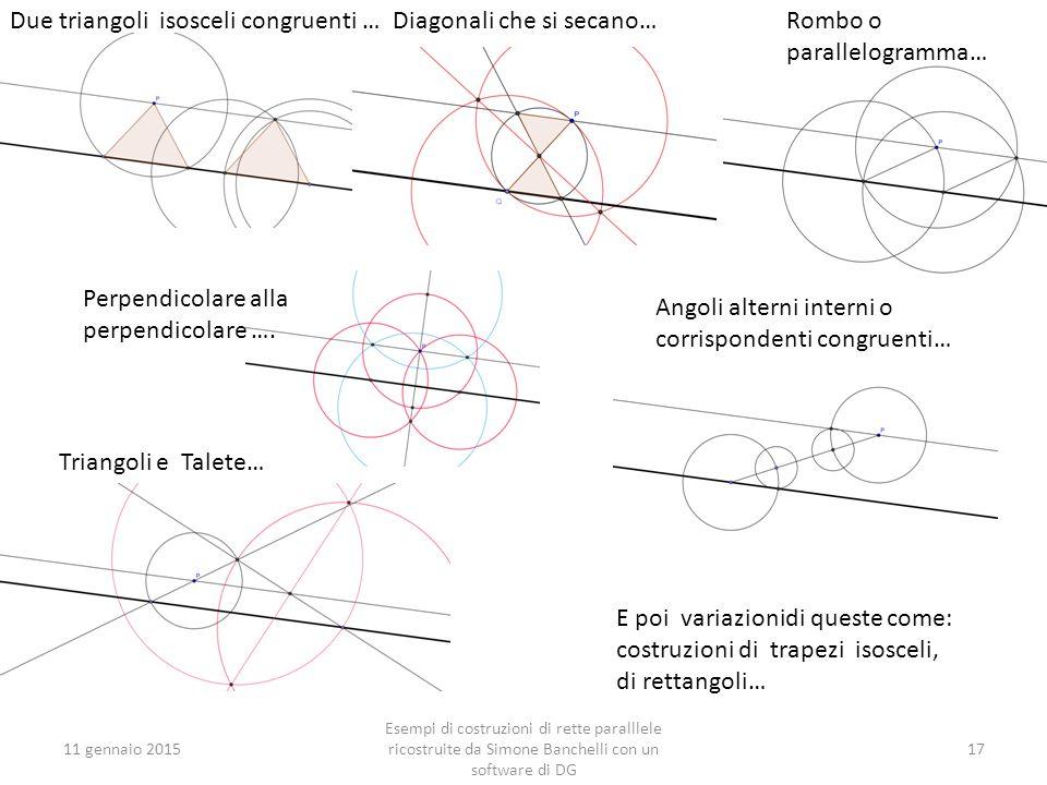 Due triangoli isosceli congruenti … Diagonali che si secano…