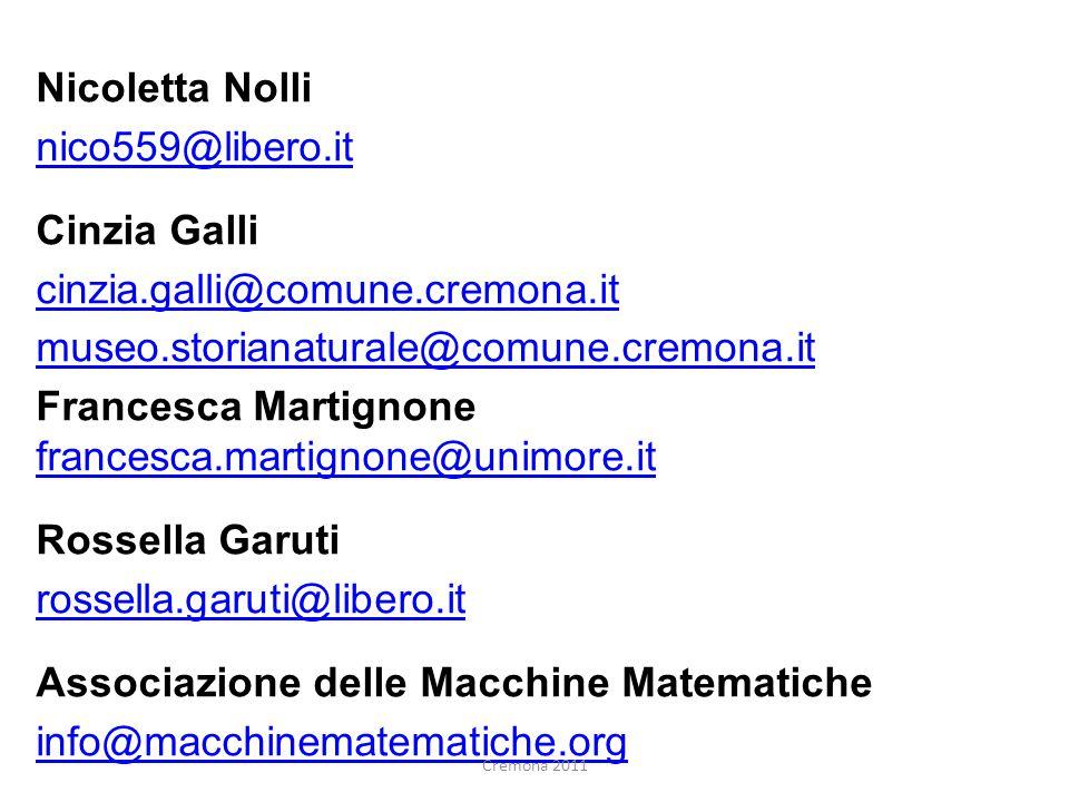 Francesca Martignone francesca.martignone@unimore.it