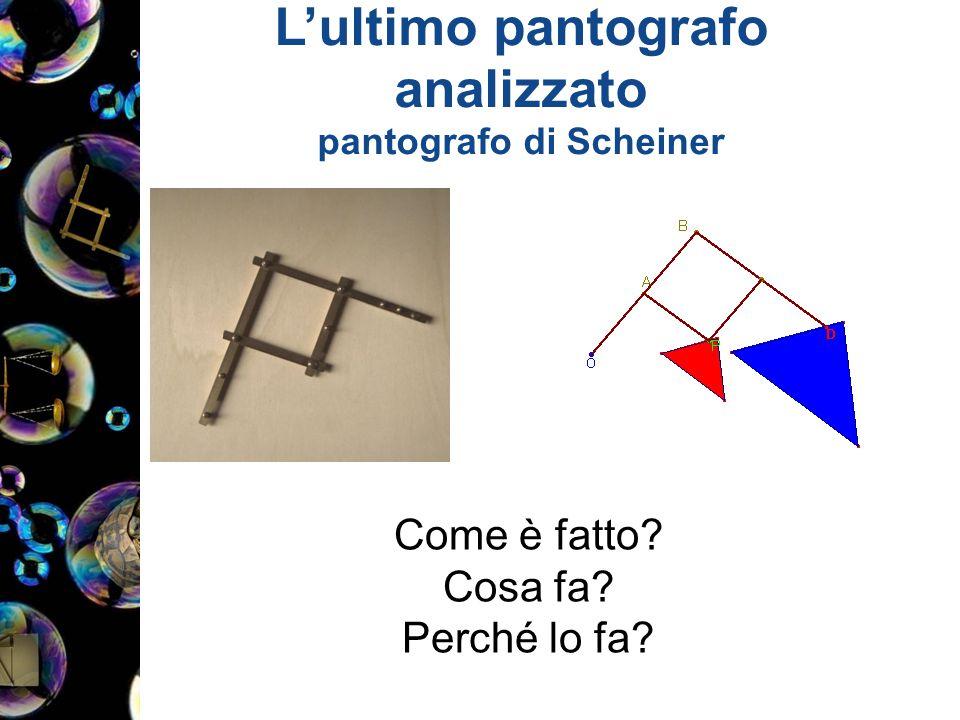 L'ultimo pantografo analizzato pantografo di Scheiner