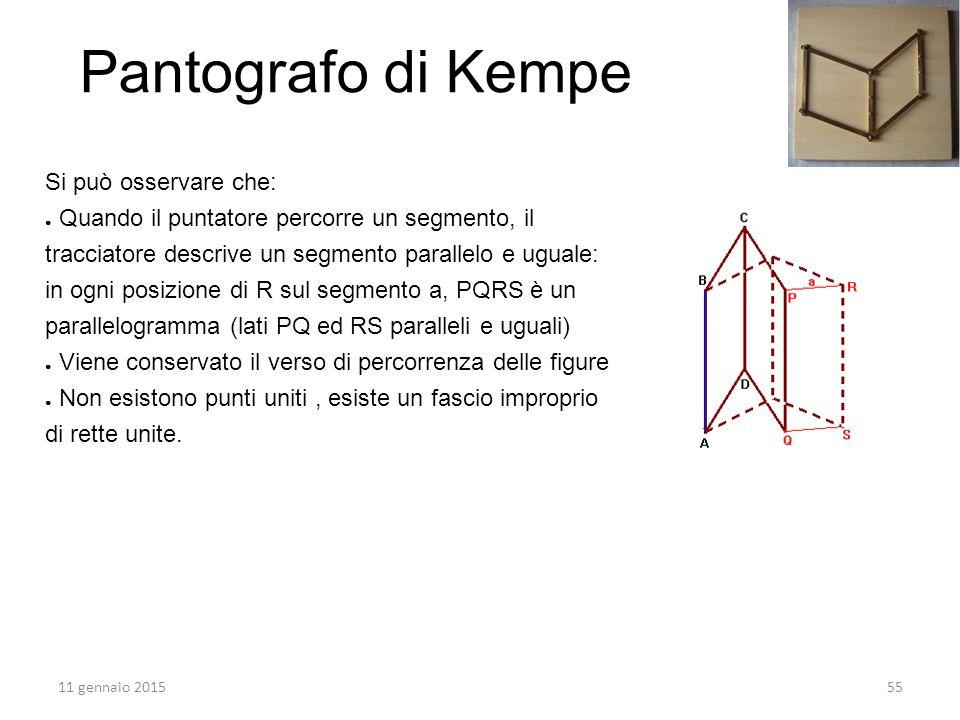 Pantografo di Kempe Si può osservare che: