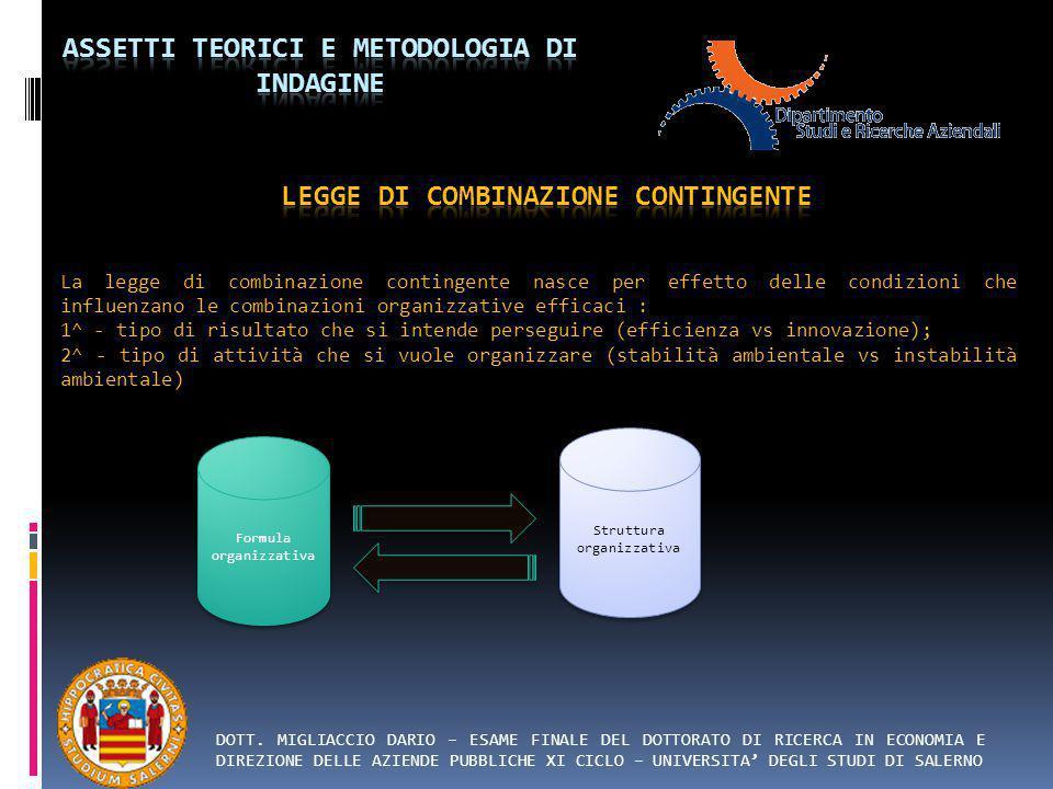 LEGGE DI COMBINAZIONE CONTINGENTE
