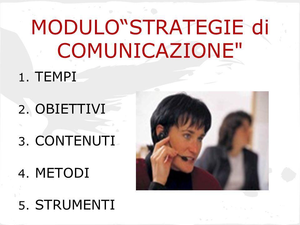 MODULO STRATEGIE di COMUNICAZIONE