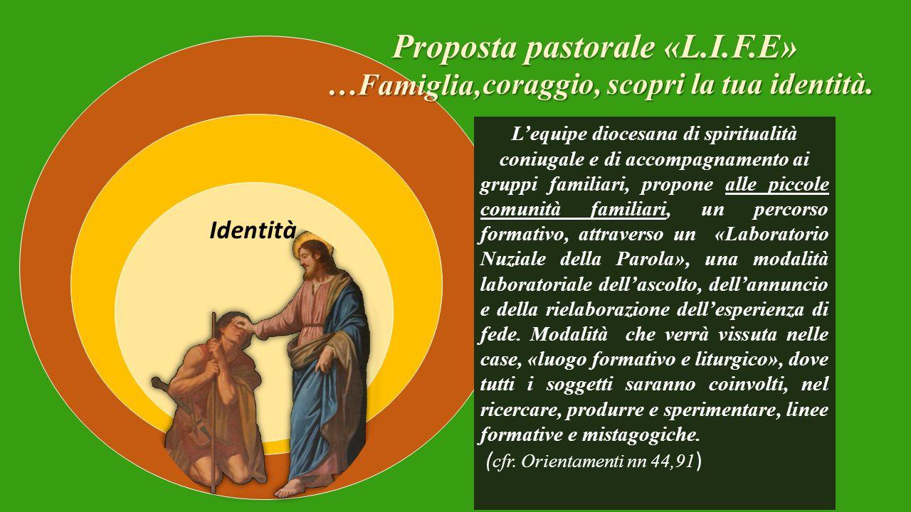Proposta pastorale «L.I.F.E» coraggio, scopri la tua identità.