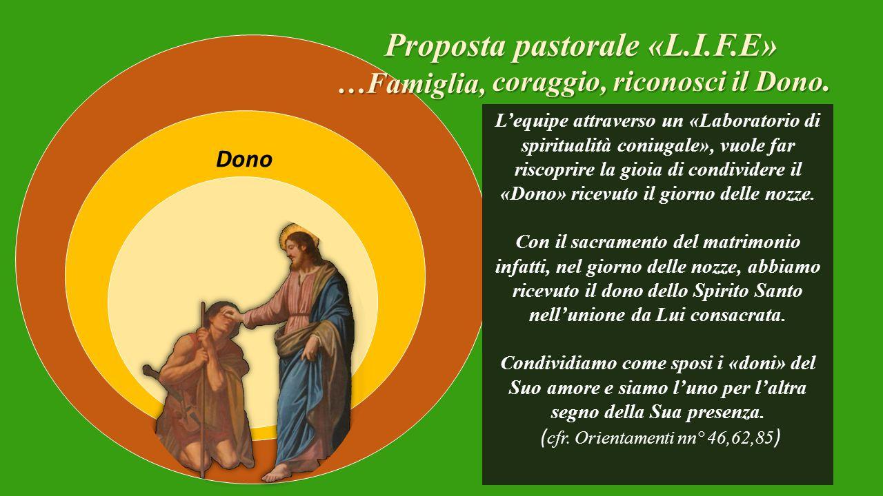 Proposta pastorale «L.I.F.E» coraggio, riconosci il Dono.