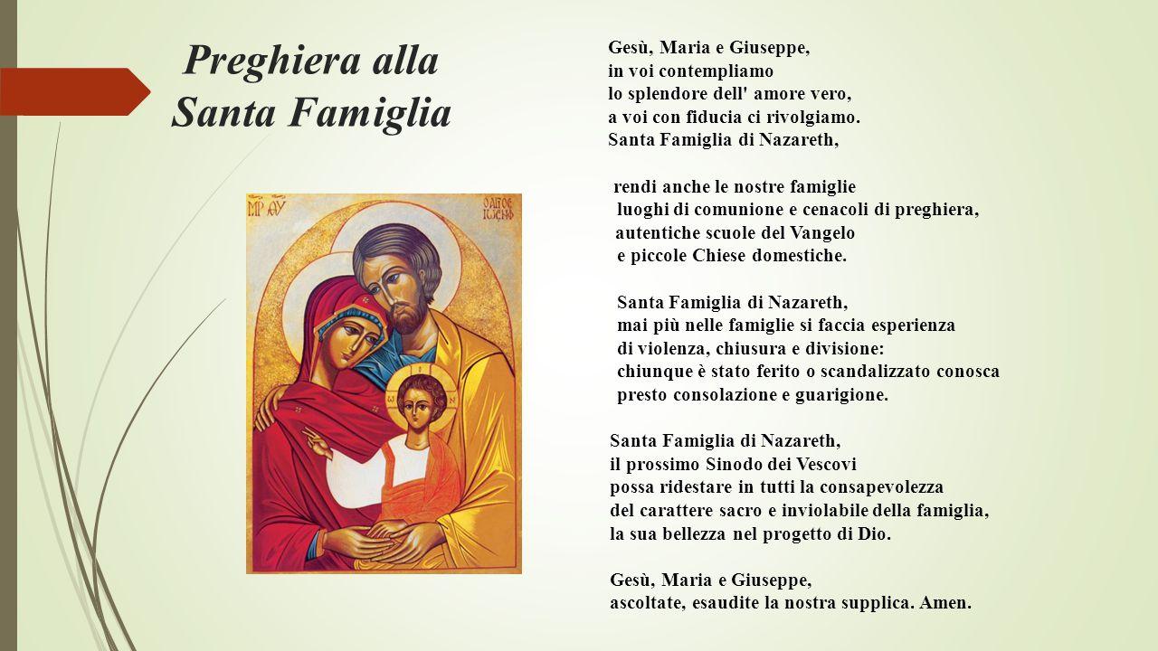 Preghiera alla Santa Famiglia