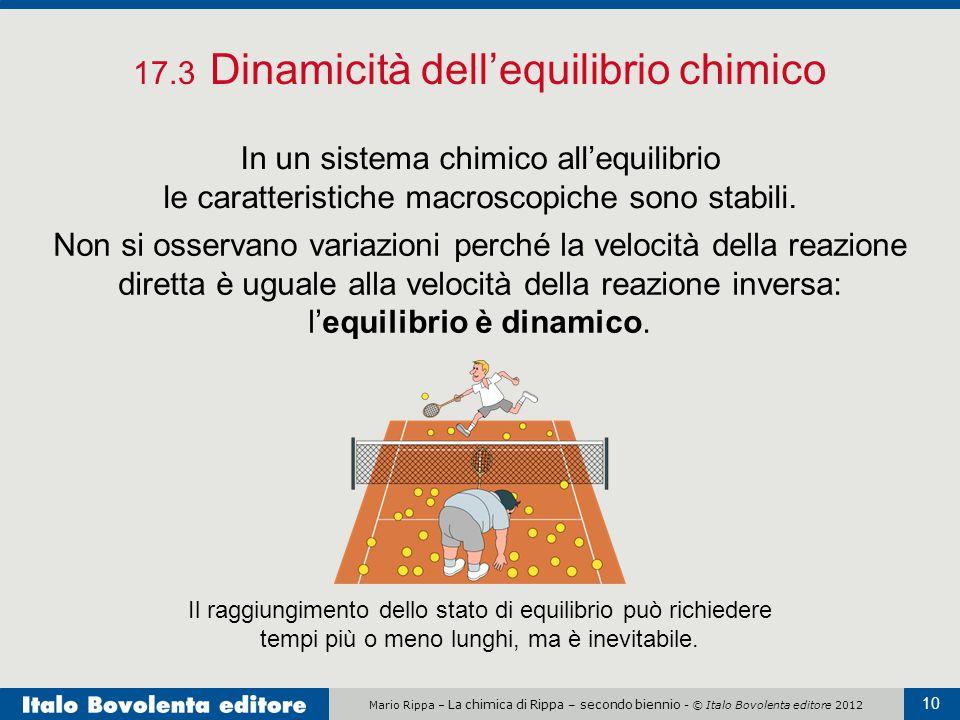 17.3 Dinamicità dell'equilibrio chimico