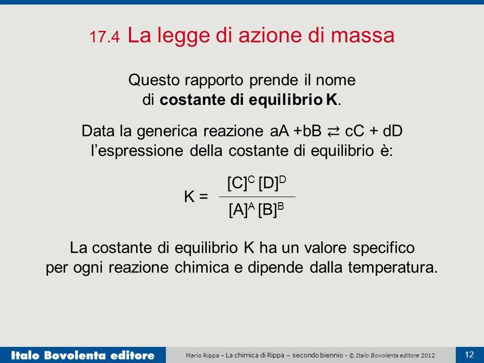 17.4 La legge di azione di massa