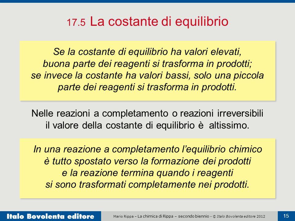 17.5 La costante di equilibrio